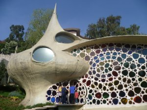 The Nautilus house in the suburb of Naucalpan.