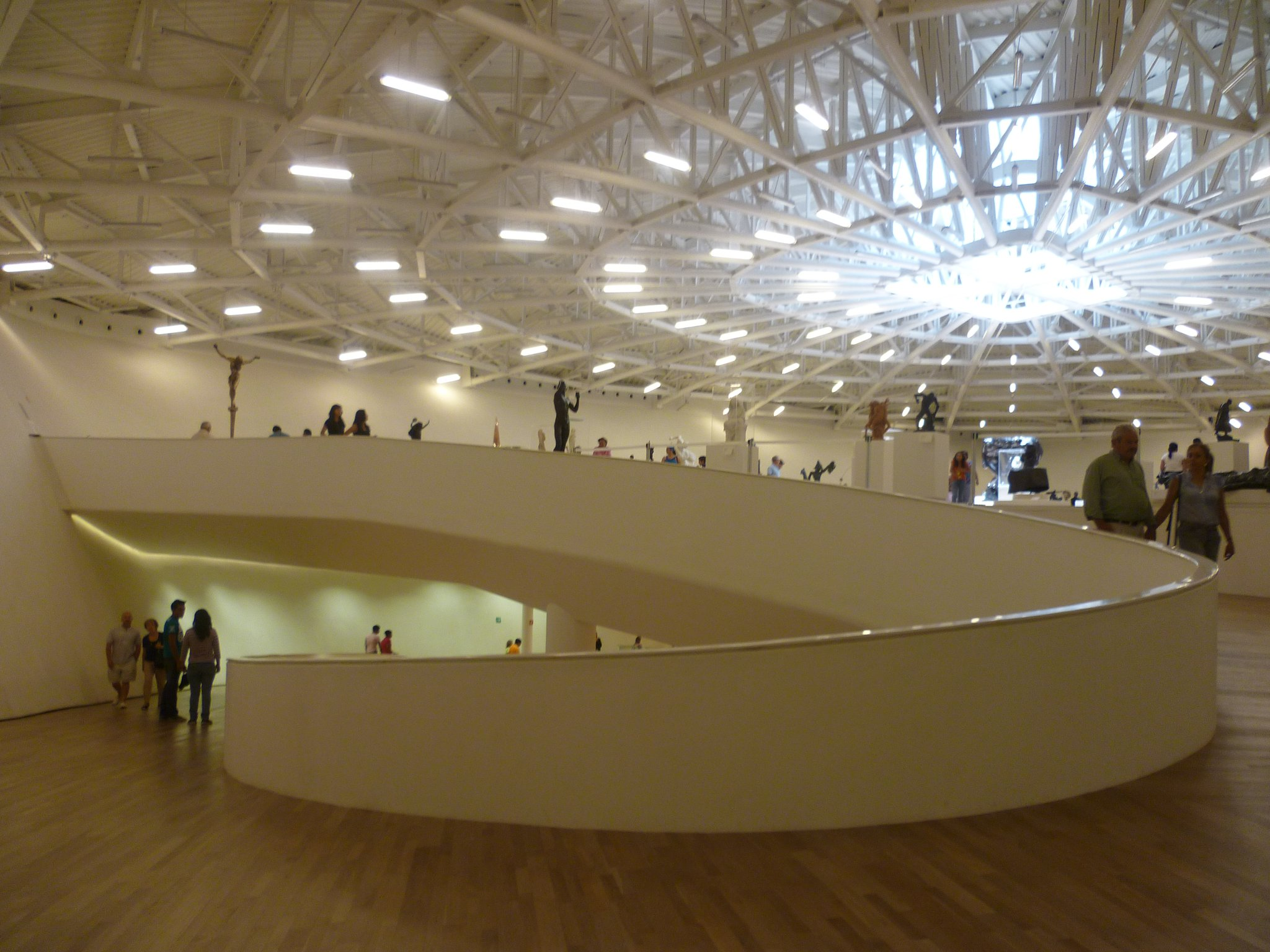The Interior Of El Museo Soumaya Is More Than A Little Reminiscent Of The  Guggenheim.