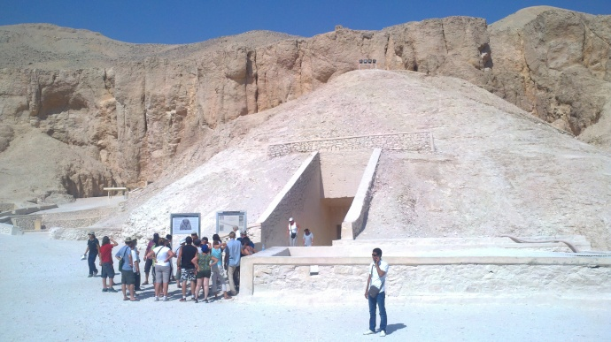 The entrance to one of the tombs at the Valley of the Kings.