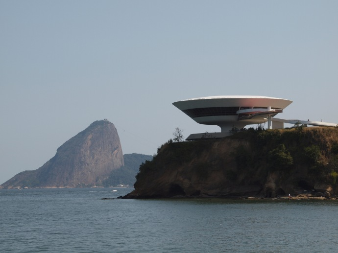 The Contemporary Art Museum in Niteroi, and Sugarloaf Mountain in Rio de Janeiro.