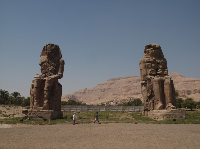 The Colossi of Memnon.