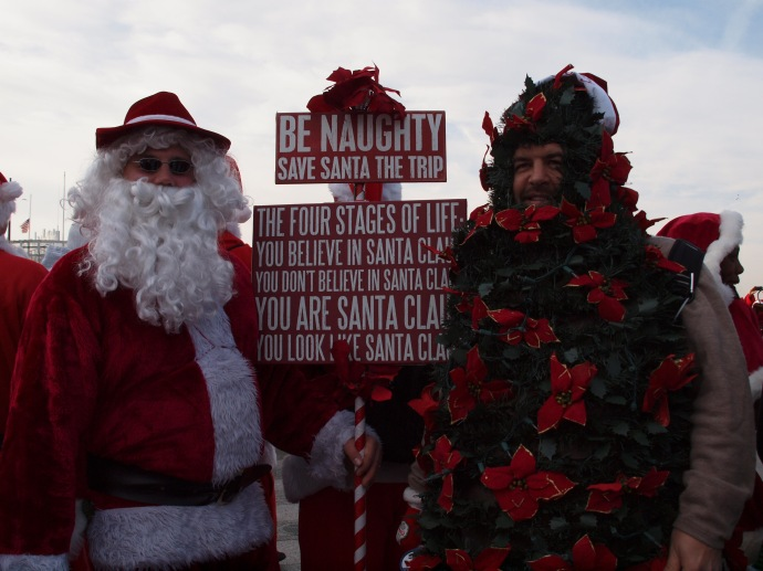 This Santa shared some words of wisdom.