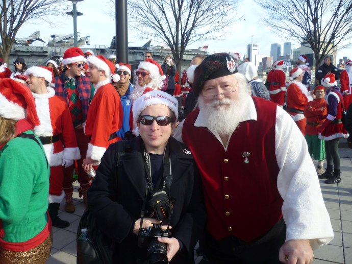 Here I am yesterday at Santacon 2012. The guy standing next to me looked the most authentic of any of the thousands of Santas in attendance, even though he wasn't actually wearing a traditional Santa suit.