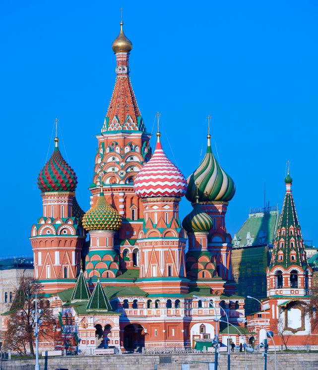 Stock photo of St. Basil's Cathedral in Moscow.