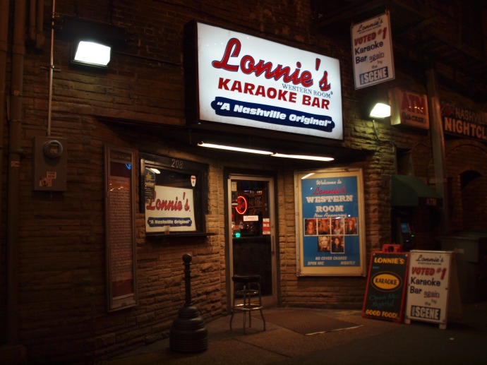 Lonnie's Western Room Karaoke Bar in downtown Nashville.