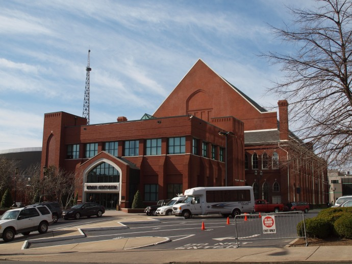 Ryman Auditorium  in downtown Nashville.