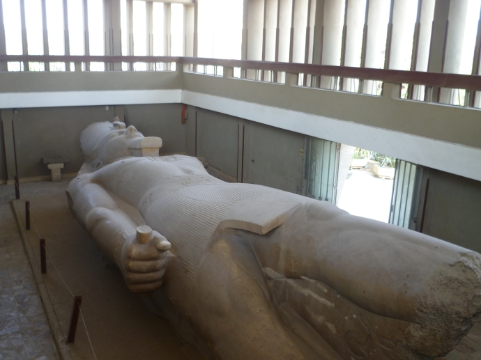 The Colossus of Ramses II in the Memphis Museum.