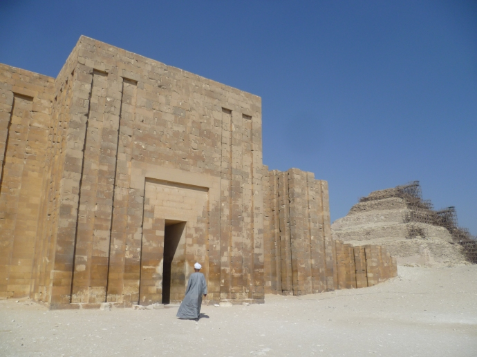 The tomb of Idut, with Djoser's step pyramid in the background on the right.