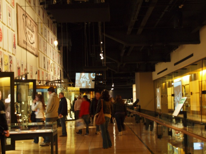 Inside one of the galleries in the Country Music Hall of Fame and Museum.