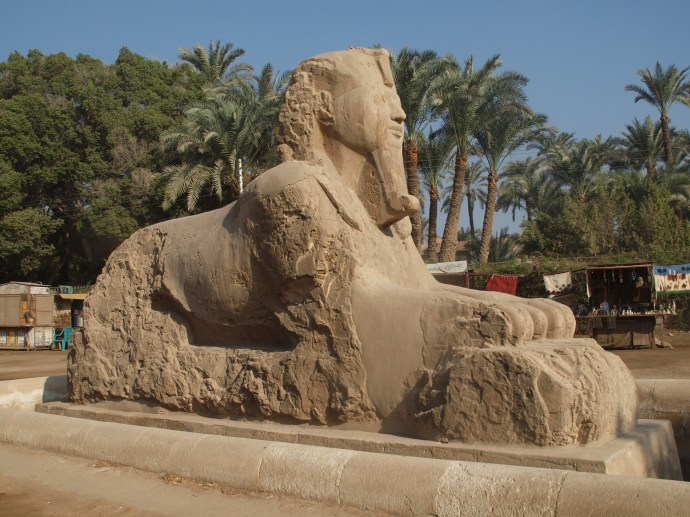 The Alabaster Sphinx outside the museum in Memphis.