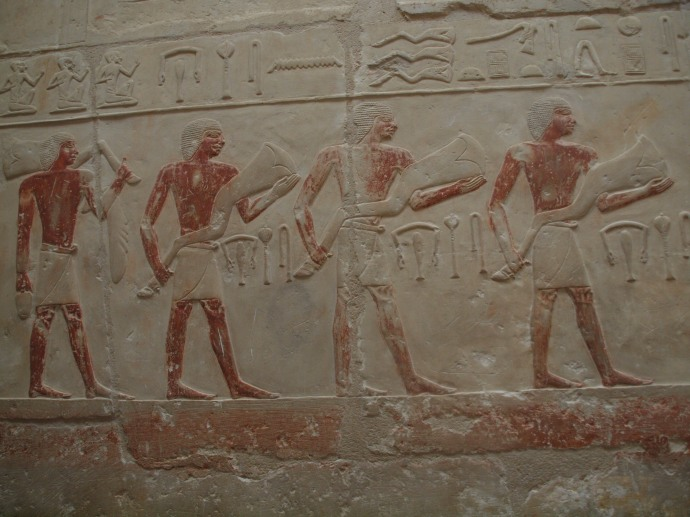 A wall painting in the tomb of Idut.