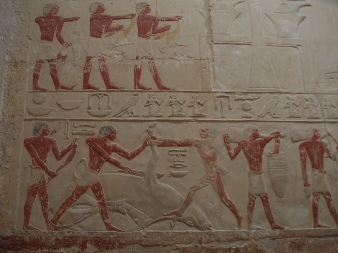 Another wall painting in the tomb of Idut.