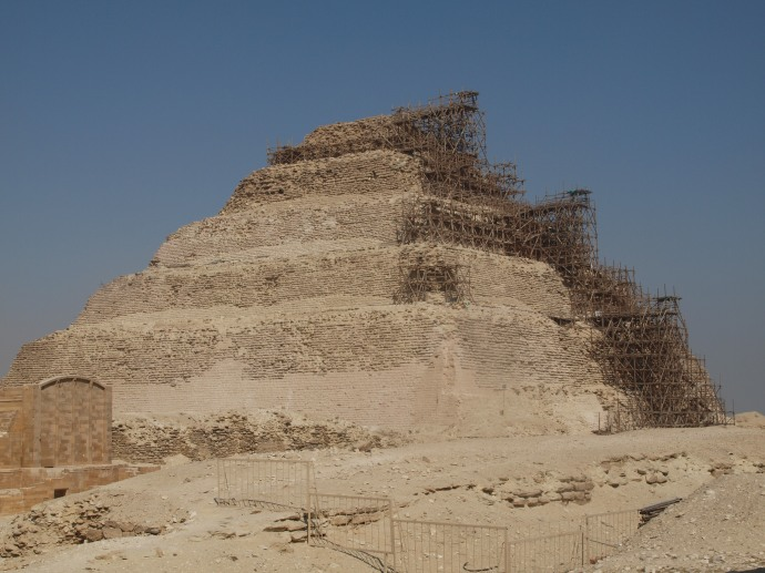 Djoser's step pyramid at Saqqara.