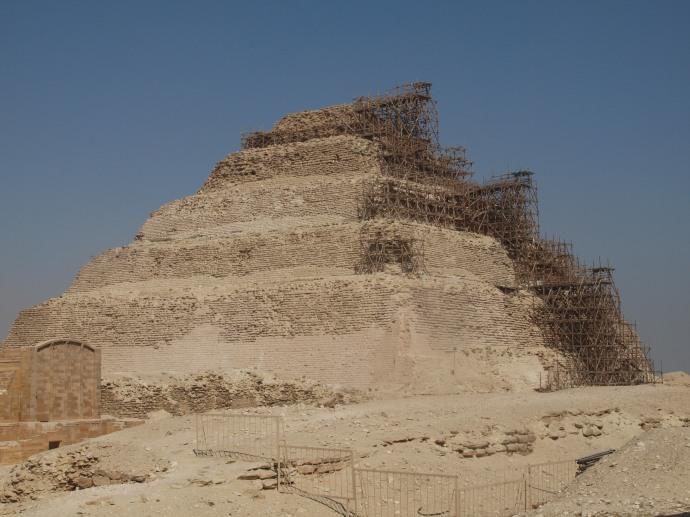 Djoser's step pyramid at Saqqara.