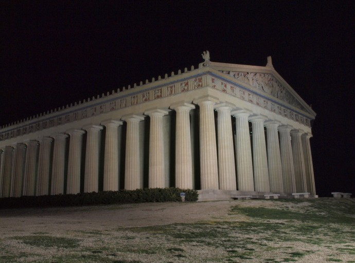 Nashville's full-scale duplicate of the Parthenon.