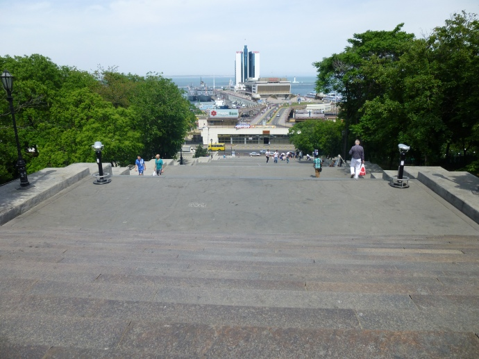 Looking down the Potemkin Steps from the top.