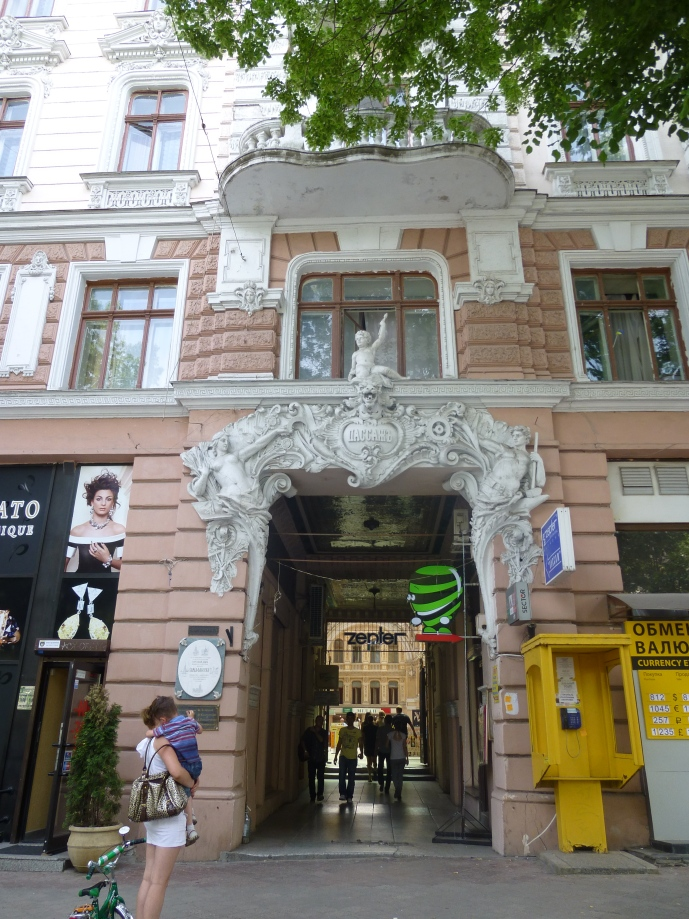 One of the entrances to the Passage.