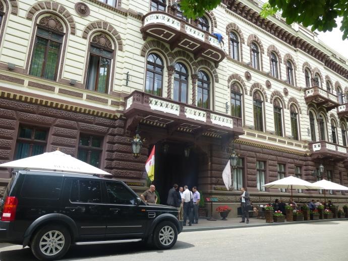The elegant Londonskaya Hotel, near the top of the Potemkin Stairs.