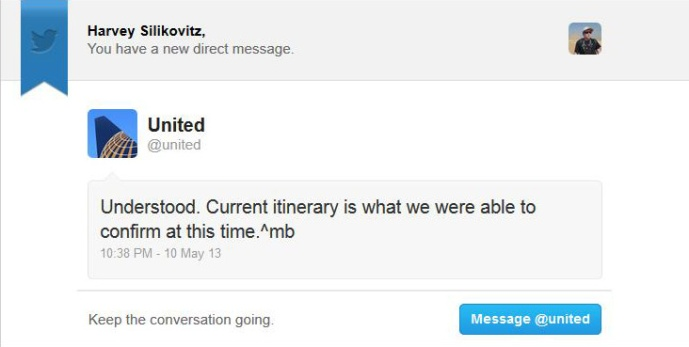 United tweet 9