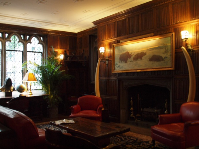 The members' lounge.