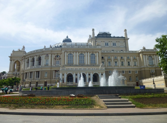 The Odessa Opera and Ballet Theater features gorgeous baroque architecture.