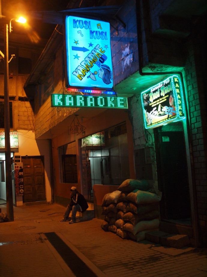 The Kusi Kusi Karaoke Pub in Machu Picchu, Peru.