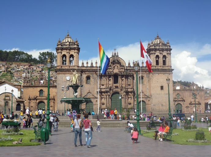 The Cathedral of Santo Domingo, also known as Cusco Cathedral, is located on the Plaza del Armas in Cusco.