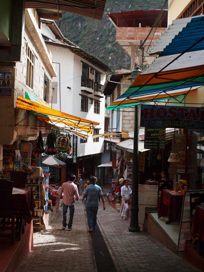 One of the streets in Aguas Calientes.
