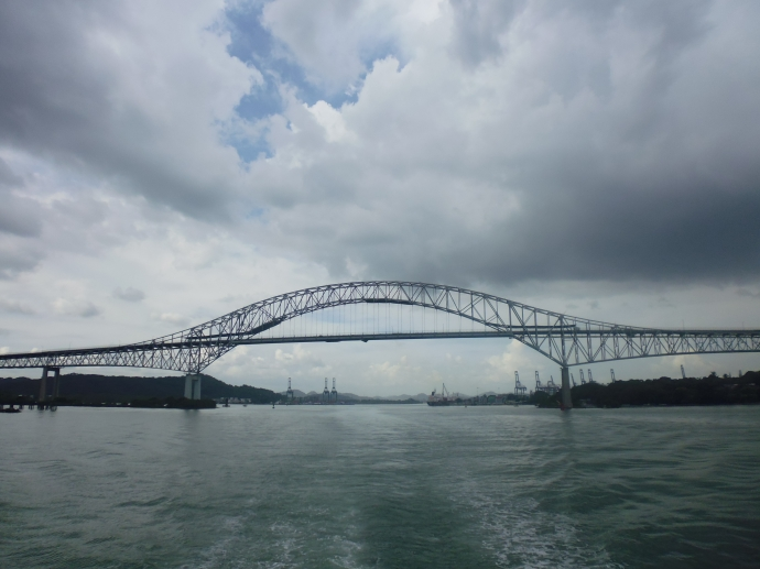 The Bridge of the Americas spans the width of the Panama Canal, and is the only way to cross the canal by automobile.