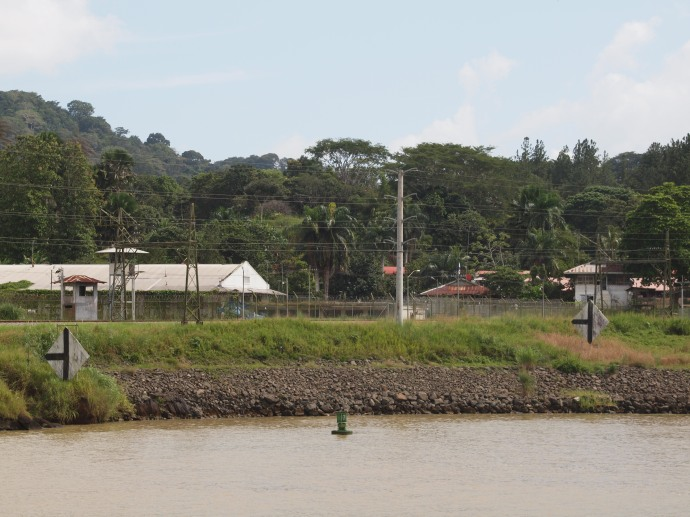 Orange is the new black for Manuel Noriega, who is one of the inmates in El Renacer Prison on the Panama Canal.