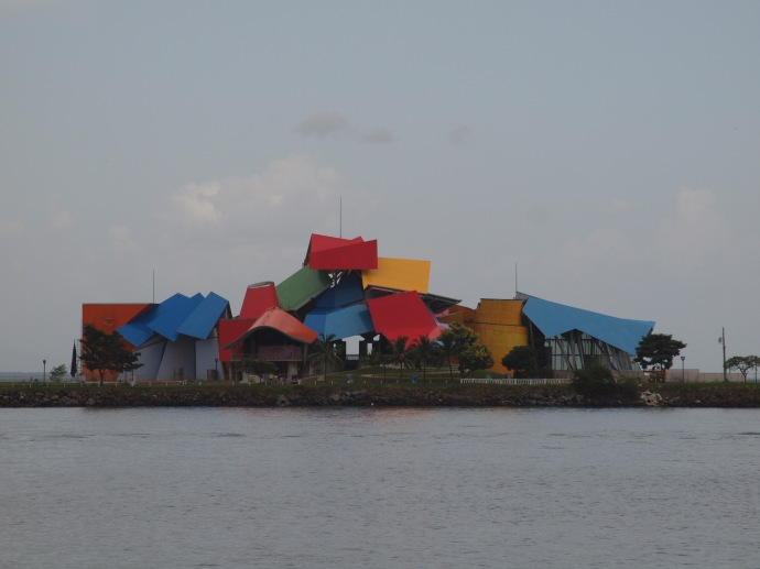 The Biodiversity Museum: Panama Bridge of Life (also called the Biomuseo), designed by Frank Gehry.