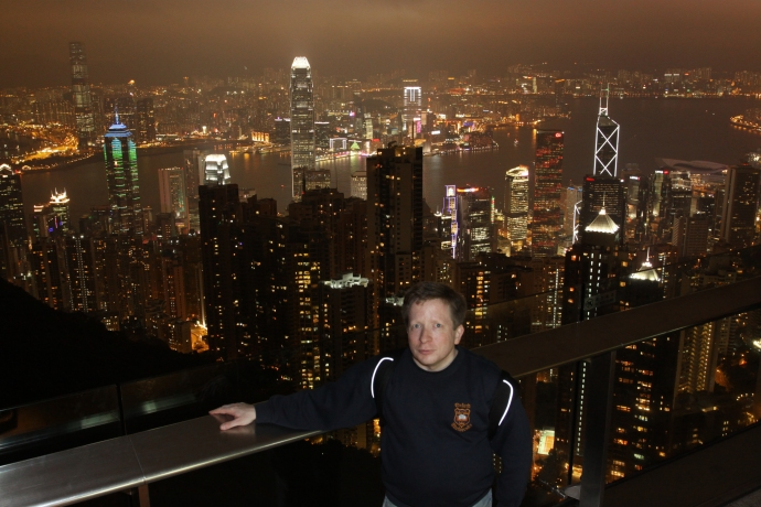Me on the Peak in Hong Kong in January 2010.