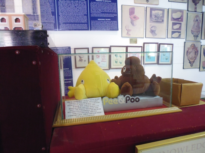 The unofficial mascots of the museum are Pee & Poo.
