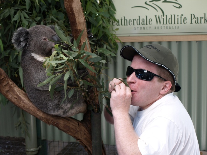 Me with an adorable koala.