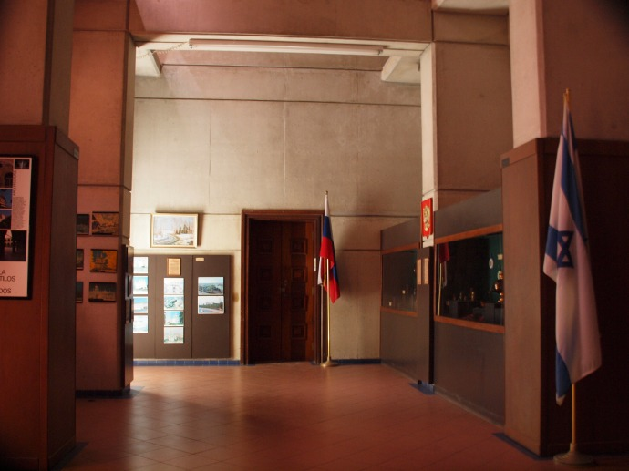 A glimpse inside the museum portion of the Faro a Colón.
