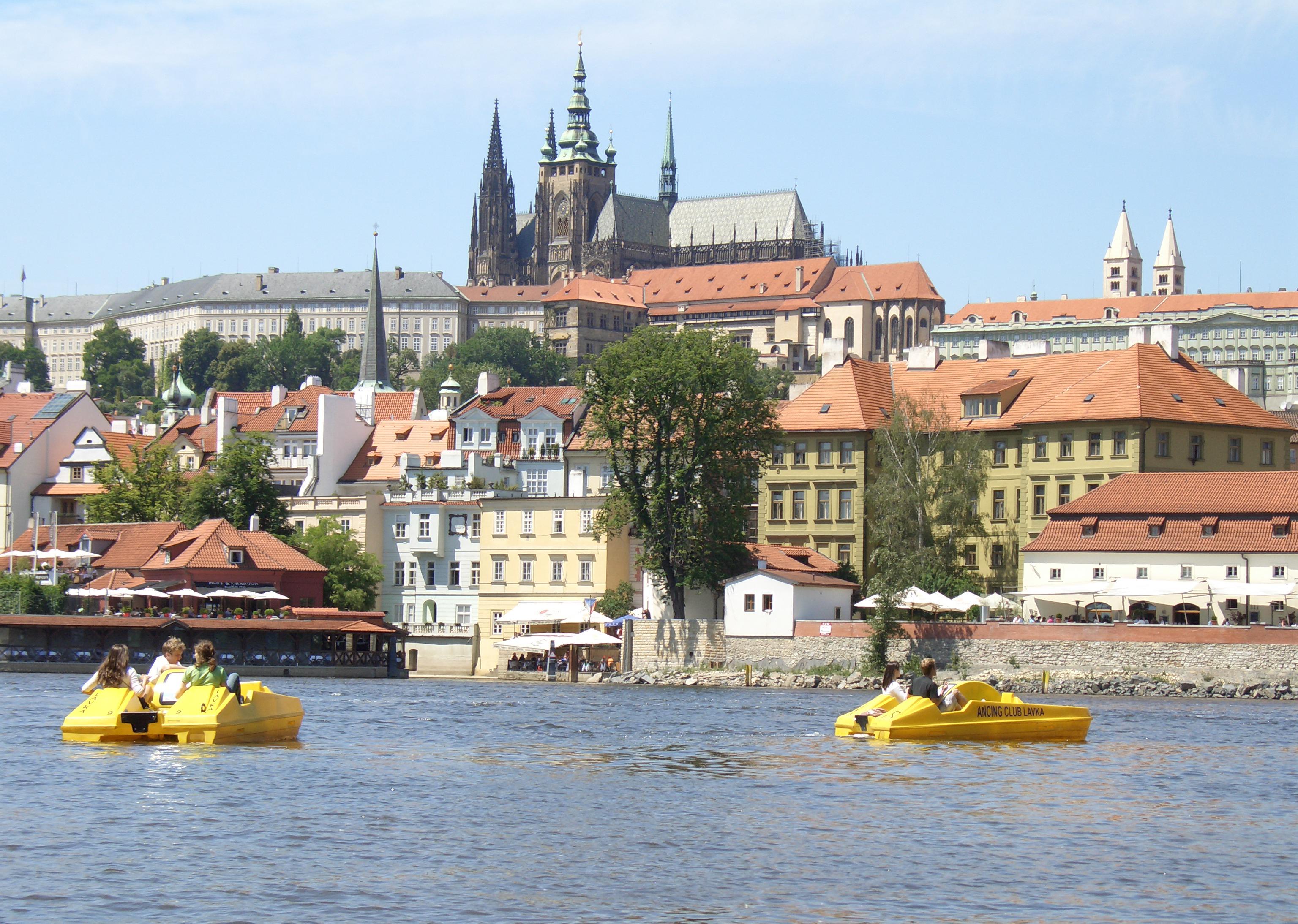 Image result for vltava river prague pedal boat