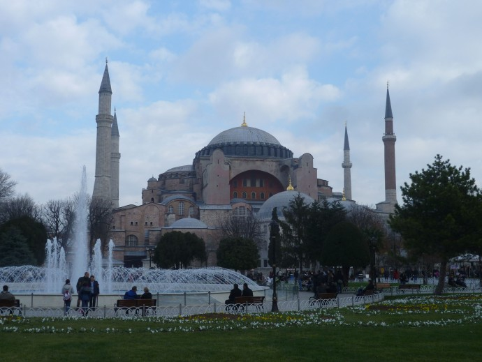 The Hagia Sophia was first built in 537 A.D.