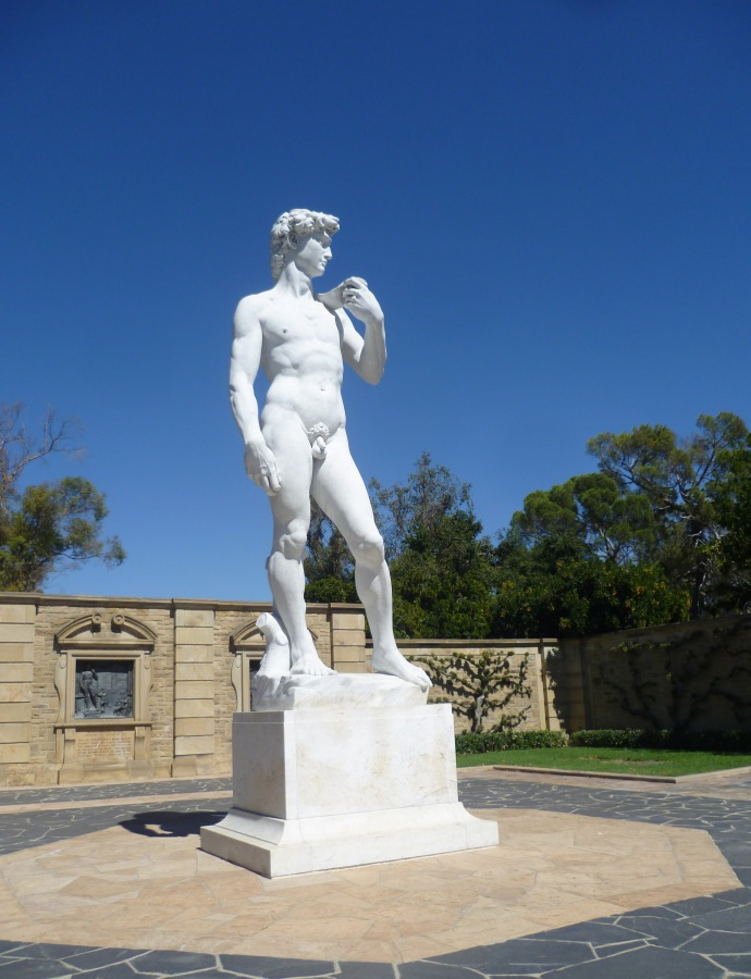 Why go to Florence when you can see a replica of Michelangelo's David in a California cemetery?