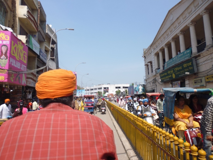This was my view while riding on a rickshaw through the streets of Amritsar.