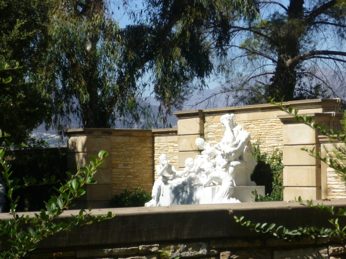 This sculpture marks the grave of silent film star Mary Pickford.