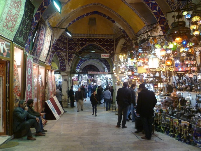 Inside the Grand Bazaar.