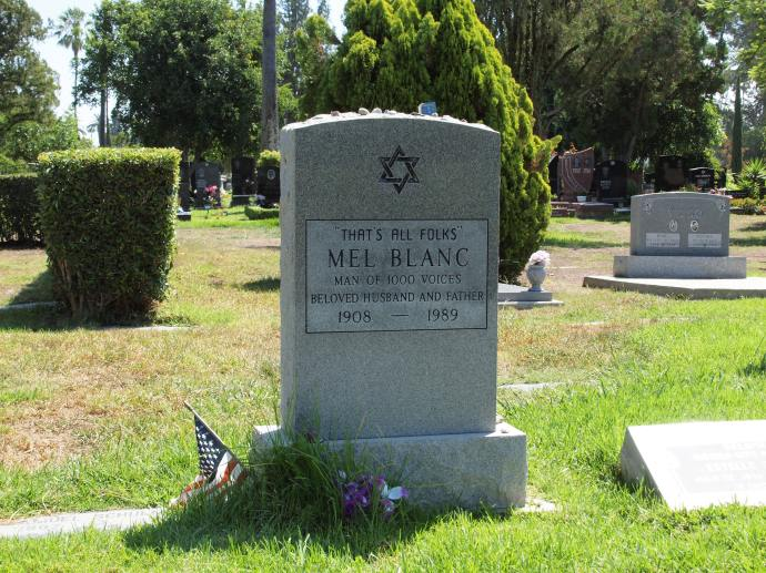 Mel Banc's tombstone said exactly what I expected it to.