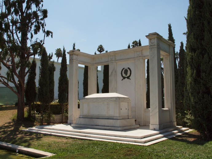 The tomb of Douglas Fairbanks.