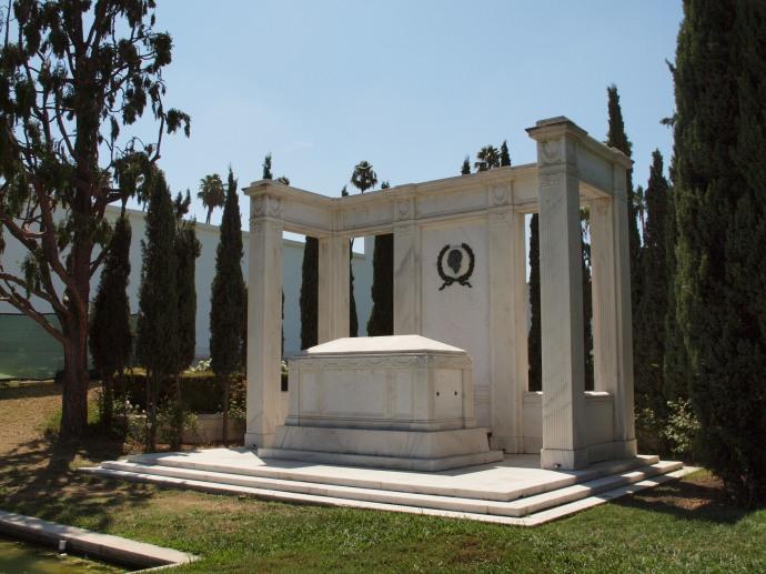The tomb of Douglas Fairbanks.