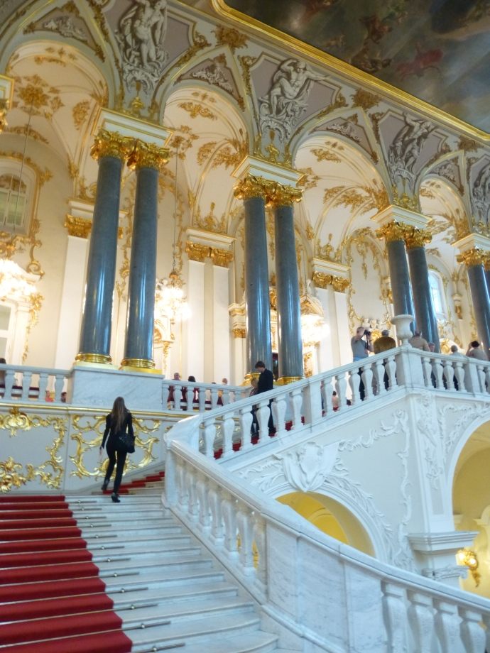 The Grand Staircase in the Hermitage.