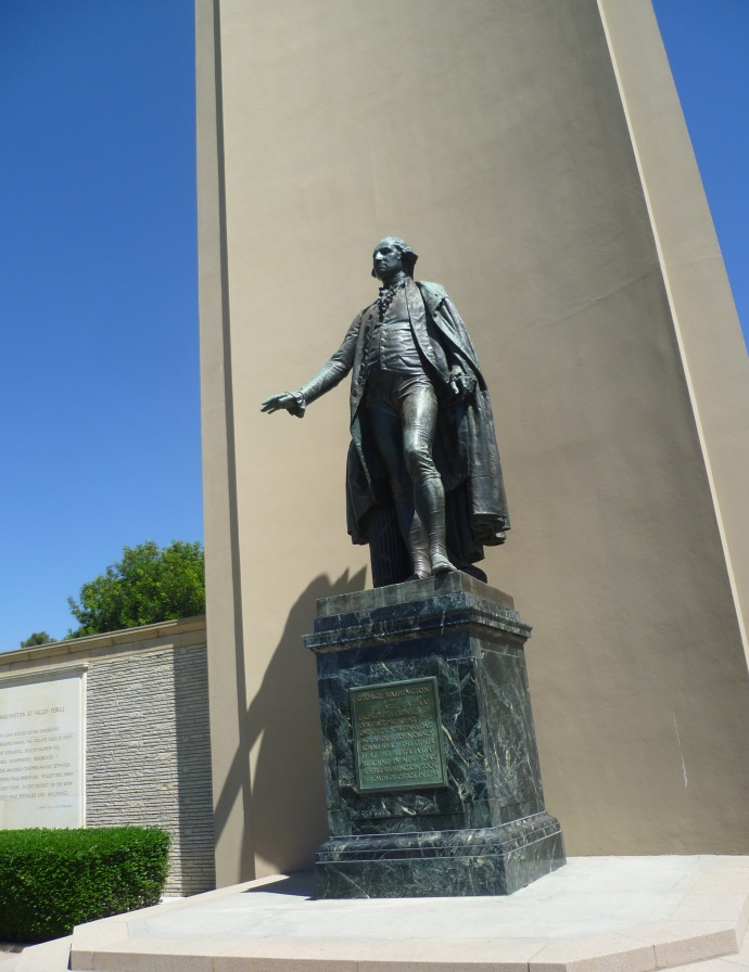 In the Court of Freedom there's a 13-foot monument to George Washington, although I'm pretty sure that America's first President never stepped foot in California.