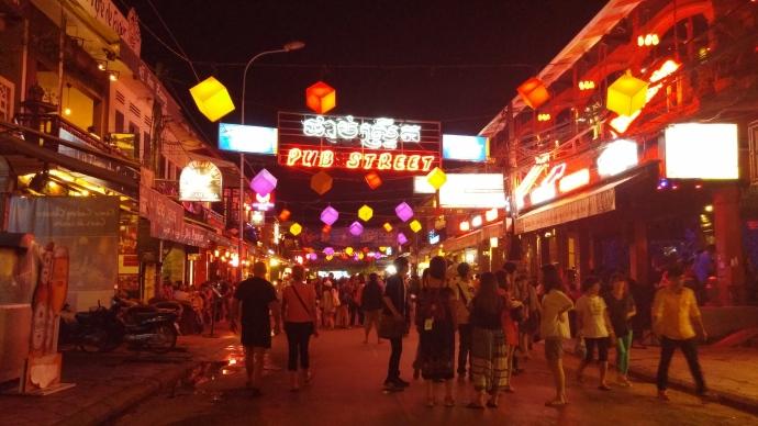 Pub Street in Siem Reap.