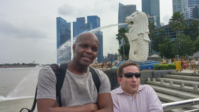 Me with fellow international traveller Kerwin McKenzie.