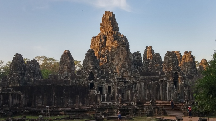 The Bayon temple in Angkor.