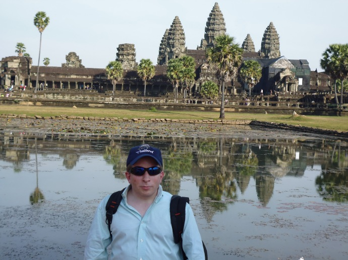 One of the less successful photos of me in front of Angkor Wat that was taken by a total stranger.
